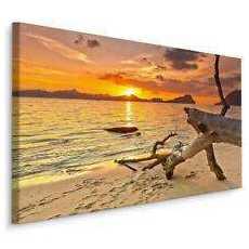 Obraz Zachód Słońca na Plaży 120x80