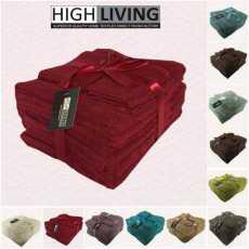 HighLiving®Komplet 10 ręczników 100% egipska bawełna Ręczniki do twarzy,...