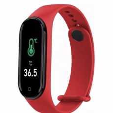 Zegarek SmartWatch SmartBand M4 PRO Opaska sportowa (czerwona)