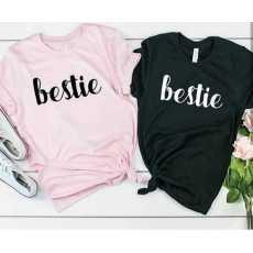 SUMMER COLLECTION bestie print shirt for women soft trendy comfortable